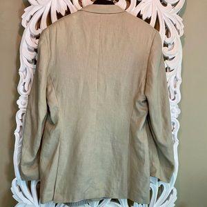 Calvin Klein Suits & Blazers - 100% Linen Calvin Klein Blazer Fully Lined Tan